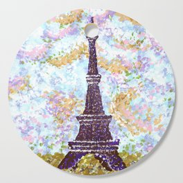 Eiffel Tower Pointillism by Kristie Hubler Cutting Board