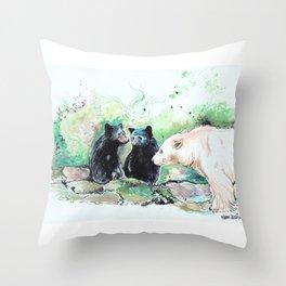 Spirit Bears Throw Pillow
