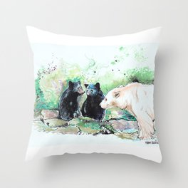 Spirit Bears Throw Pillow
