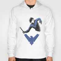 nightwing Hoodies featuring Nightwing by dudesweet