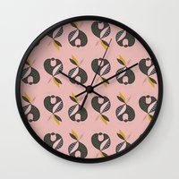 apple Wall Clocks featuring Apple by FLATOWL