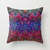 demon Throw Pillows featuring Demon by GypsYonic