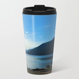 Lake Crescent Shore Metal Travel Mug