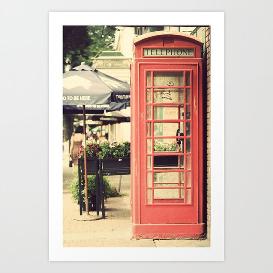 London calling ... Art Print