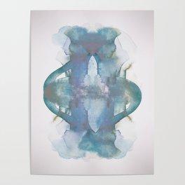 Purple Pond Reflection Poster