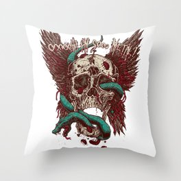 Ooh, I'm so Metal Throw Pillow