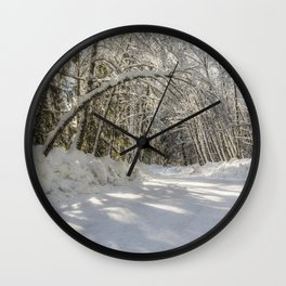 Covered in White Wall Clock