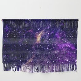 Ultra violet purple abstract galaxy Wall Hanging