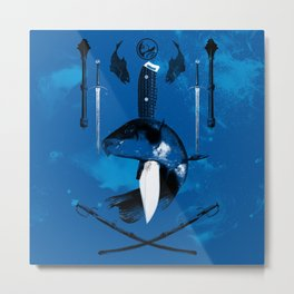 Carp and Melee Weapons Metal Print