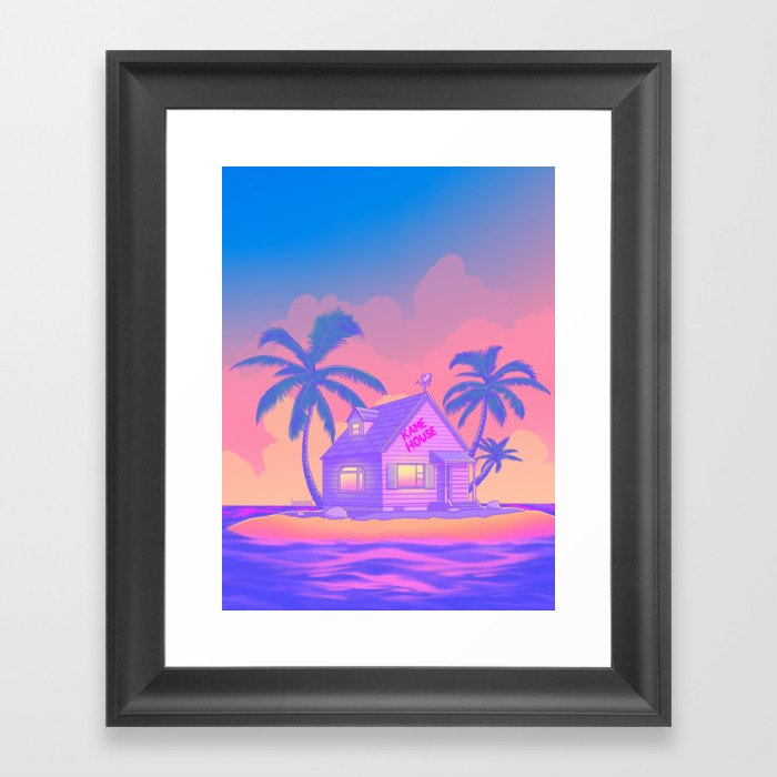 80s Kame House Gerahmter Kunstdruck
