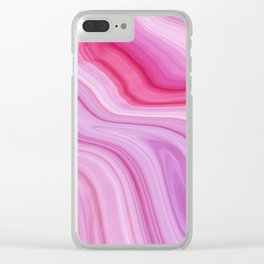 Pink Marble Clear iPhone Case