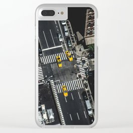 Little Yellow Cabs Clear iPhone Case