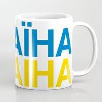 ukraine Mugs featuring UKRAINE by eyesblau
