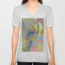 Color Waterfall Unisex V-Neck