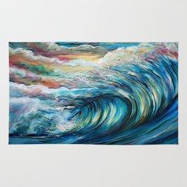 The Rainbow Wave Rug