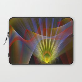 Inner light, spiritual fractal abstract Laptop Sleeve