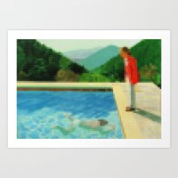 Lego: A lawn being sprinkled Art Print