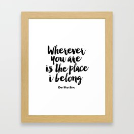 quote wall art Quote,inspirational,Wall Art,Typography Print,Quote Prints,Typography Art,Song Lyrics Framed Art Print
