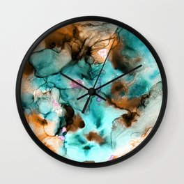 Floating in the Garden Pond Wall Clock