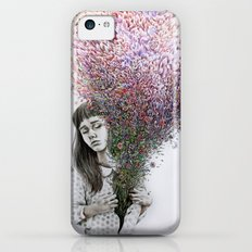 I tried to draw my soul but all I could think of was flowers iPhone 5c Slim Case