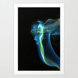 Blue Doris Art Print