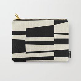 BW Oddities II - Black and White Mid Century Modern Geometric Abstract Carry-All Pouch