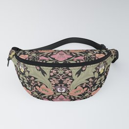 Spring Pattern with Poppy Flowers and Gladioli II Fanny Pack