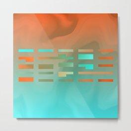 2in1 Pattern Mix, Justin aqua Metal Print