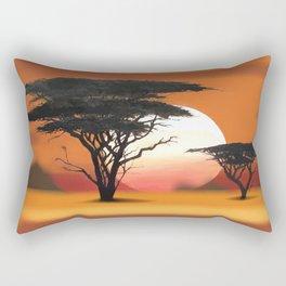 African Landscape No. 1 Rectangular Pillow