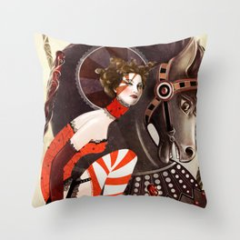 Amanda Palmer Six of Wands Throw Pillow