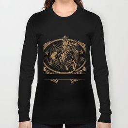 Illustration of cowboys riding horse Long Sleeve T-shirt