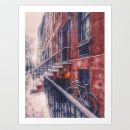 First NYC Snowfall of 2017 Art Print