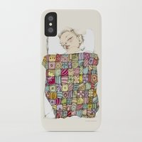 child iPhone & iPod Cases featuring sleeping child by Cecilia Sánchez