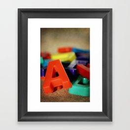 Alphabet Fun Framed Art Print