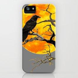 FULL MOON & RAVEN ON DEAD TREE iPhone Case