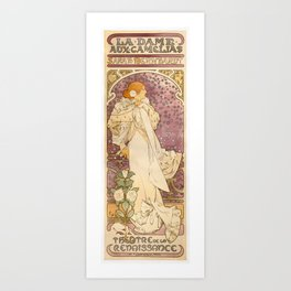 Alphonse Mucha - Poster of Sarah Bernhardt at the Theatre de la Renaissance (1894) Art Print