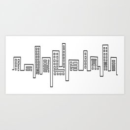 City Shape Art Print