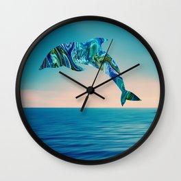 Marble Animals - Dolphin Wall Clock