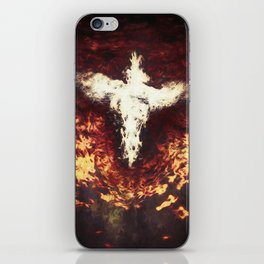 Fantasy artwork. Angel or Damon? Winged crature with crown. iPhone Skin