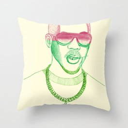 Joey Starr. Throw Pillow