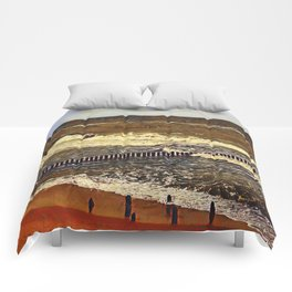 baltic see in winter Comforters