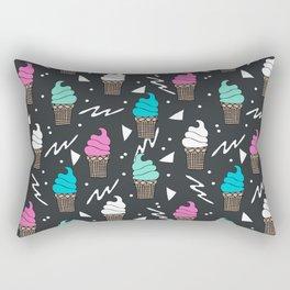 Ice cream dole whip rad geometric dessert treats pattern by andrea lauren Rectangular Pillow