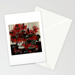"""Coral Flowers"" by Australian Artist Margaret Preston Stationery Cards"