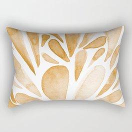 Watercolor artistic drops - orange Rectangular Pillow