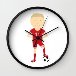 champion football Wall Clock