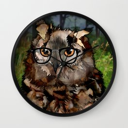Owl's Good in the Woods Wall Clock