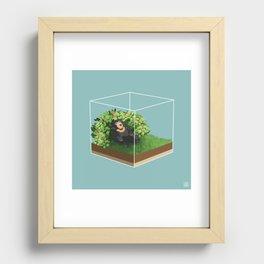 Sleepy Bear Recessed Framed Print