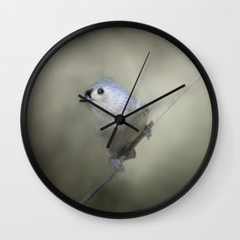 Little Tufted Titmouse Wall Clock