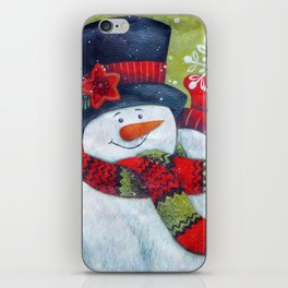 Snowman with Scarf iPhone Skin