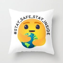 Stay Safer Inside Throw Pillow